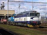 Lokomotiva 756 001-4, depo Zvolen, 7.3.2009 9:42 - Trainweb