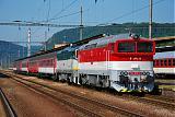 "Lokomotiva 757 001-3 + 754 072-7, R 1931 ""Bodva""  (Zvolen – Lučenec – Plešivec – Košice – Kysak – Prešov), Zvolen osobná stanica, 22.5.2011 9:30 - Trainweb"