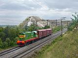 Lokomotiva ČME 3-5196, nákladní vlak, Krupennikova – Slope  (Rusko, Voroněžská oblast), 21.8.2010 12:10 - Trainweb