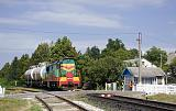 Lokomotiva ČME3-4173, Mn (Otaci - Ocnita), Ocnița (Moldávie), 23.8.2018 14:43 - Trainweb