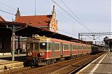 """Lokomotiva EN 71-013, IR 36125 """"Światowid""""  (Przemyśl – Rzeszów – Tarnów – Kraków – Katowice – Opole – Wrocław), Opole Główne, 27.2.2010 14:34 - Trainweb"""