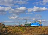 Lokomotiva EP1M-461, rychlík, Koloděznaja – Davydovka  (Rusko, Voroněžská oblast), 24.9.2012 16:52 - Trainweb