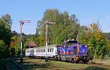 """Lokomotiva SU 42-1003, TLK 60104 """"Pomorzanin""""  (Kudowa-Zdrój – Kłodzko – Kamieniec Ząbkowicki – Wrocław), Polanica Zdrój, 1.10.2017 11:40 - Trainweb"""