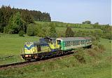 """Lokomotiva SU 42-536, Os 6720 """"Szczeliniec""""  (Kudowa Zdrój – Kłodzko – Wrocław – Leszno – Poznań), Duszniki Zdrój, 8.5.2009 7:57 - Trainweb"""