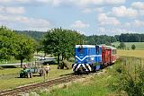 Lokomotiva T 48.001, Os 286  (Jindřichův Hradec – Kunžak-Lomy), Blažejov, 17.7.2013 15:40 - Trainweb