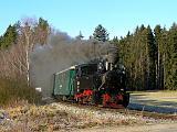 Lokomotiva U 46.001, zvl.Os 230  (Jindřichův Hradec – Černovice u Tábora), Dolní Radouň – Lovětín, 29.12.2012 10:14 - Trainweb