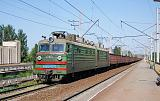 Lokomotiva VL 80-075, nákladní vlak, Kyjev-Levyj bereg, 22.4.2007 14:14 - Trainweb