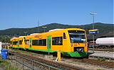 Lokomotiva VT 40 + VT 33, RB 32211  (Schwandorf – Cham [Oberpf] – Furth im Wald), Furth im Wald, 1.9.2009 11:00 - Trainweb