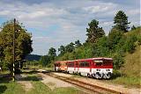 Motorový vůz 811 003-3, Os 2743  (Velká nad Veličkou – Vrbovce – Myjava – Nové Mesto nad Váhom), Vaďovce, 9.8.2011 16:28 - Trainweb