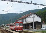 Motorový vůz 812 035-4, Os 6106 do Banskej Štiavnice, Hronská Dúbrava, 13.6.2007 9:20 - Trainweb