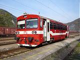 Motorový vůz 812 039-6, Os 6106 do Banskej Štiavnice, Hronská Dúbrava, 2.10.2007 9:30 - Trainweb