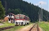 Motorový vůz 813 023-9, Os 4050  (Čadca – Makov), Makov, 7.8.2011 15:26 - Trainweb