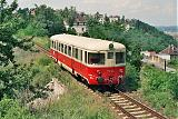Motorový vůz 820 046-1, Os 19702  (Praha – Hostivice – Rudná u Prahy), Praha-Žvahov, 10.7.1997 14:52 - Trainweb