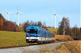 Motorový vůz 843 001-9, Sp 1702  (Jeseník – Hanušovice – Zábřeh na Moravě), Ostružná – Branná, 14.11.2011 11:32 - Trainweb