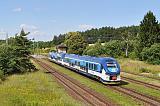 Motorový vůz 844 015-8 + 844 006-7, Os 7414  (Plzeň – Domažlice), Holýšov, 12.7.2014 15:48 - Trainweb
