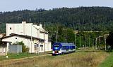 Motorový vůz 844 025-7, MMM 66002 Expres ANO (Hradec Králové – Wałbrzych Miasto), Mieroszów, 19.9.2020 10:54 - Trainweb