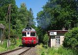 Motorový vůz 851 008-3, zvl.Sp 1.nsl.1291  (Lužná u Rakovníka – Řevničov)       výletní vlak Křivoklátsko, hl.Merkovka, 14.6.2009 11:15 - Trainweb