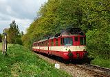 Motorový vůz 851 019-0, Os 13712  (Uničov – OIlomouc), Mladějovice – Babice u Šternberka, 2.5.2008 12:23 - Trainweb