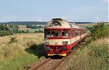 Motorový vůz 854 001-5, R 1145  (Tanvald – Železný Brod – Turnov – Mladá Boleslav – Všetaty – Praha), Kojovice – Byšice, 17.8.2011 15:48 - Trainweb
