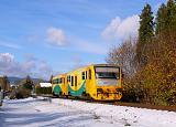 Řídící vůz 914 006-2 + 814 006-3, Sp 1753  (Broumov – Meziměstí – Náchod – Václavice – Starkoč), Broumov, 28.10.2012 14:03 - Trainweb