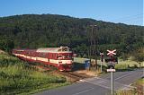 Řídící vůz 954 002-2 + 842 035-8 + 842 033-3, Os 4426  (Brno – Moravský Krumlov), Silůvky – Moravské Bránice, 17.6.2009 19:22 - Trainweb