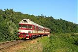 Řídící vůz 954 002-2, Os 4842, Omice – Tetčice, 14.7.2007 16:57 - Trainweb